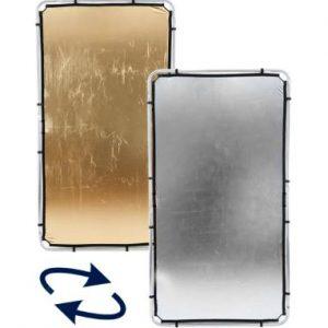 tela oro plata skylite 300x300 - Tela oro/plata para Lastolite Skylite 2x1