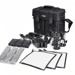 KIT x3 Panel Flexible CINEROID 300x300 - CINEROID 3S Kit de 3 paneles flexibles 25x25