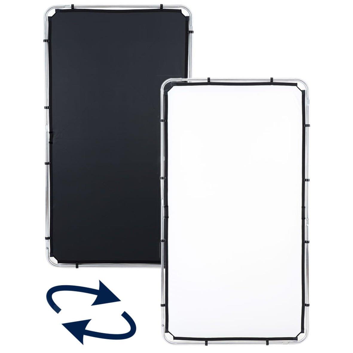 Tela negra/blanca para Lastolite Skylite 2×1