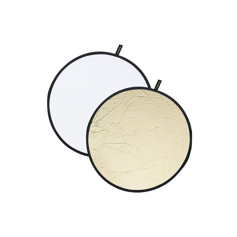 Reflector plegable 100cm dorado/blanco